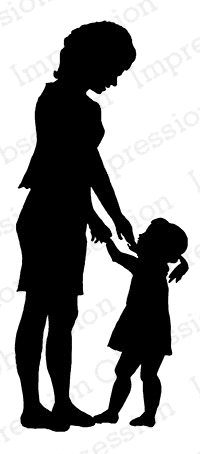 Impression Obsession Cling Stamp MOTHER AND CHILD C7911* Preview Image