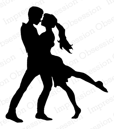 Impression Obsession Cling Stamp DANCING COUPLE E7912* Preview Image