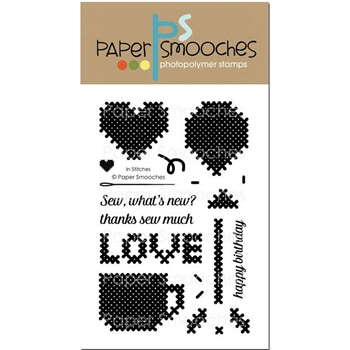 Paper Smooches IN STITCHES Clear Stamps J1S301*