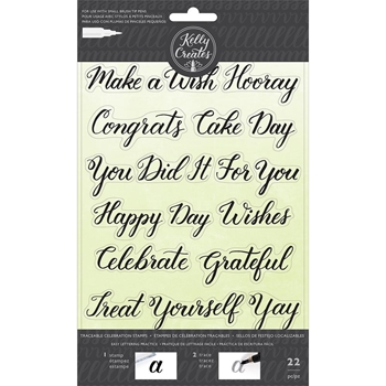 Kelly Creates TRACEABLE CELEBRATIONS Clear Stamps 346396