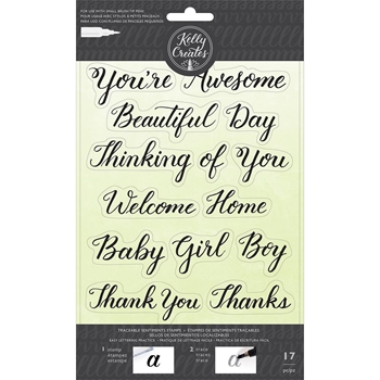 Kelly Creates TRACEABLE SENTIMENTS Clear Stamps 346397