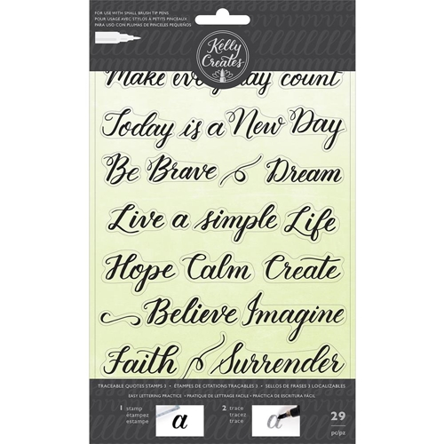 Kelly Creates TRACEABLE QUOTES 3 Clear Stamps 346414 Preview Image