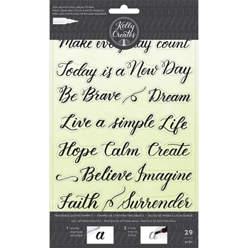 Kelly Creates TRACEABLE QUOTES 3 Clear Stamps 346414