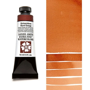 Daniel Smith QUINACRIDONE BURNT ORANGE 15ML Extra Fine Watercolor 284600086*