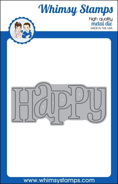 Whimsy Stamps HAPPY LARGE WORD Die wsd275 zoom image