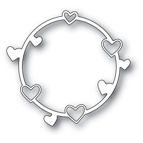 Poppy Stamps HEART CIRCLE Craft Die 1975 Preview Image