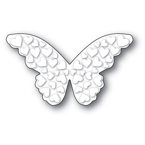 Poppy Stamps EMBOSSED HEART BUTTERFLY Craft Die 1989 Preview Image