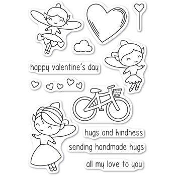 Poppy Stamps Clear Stamps VALENTINE FAIRIES CL462*