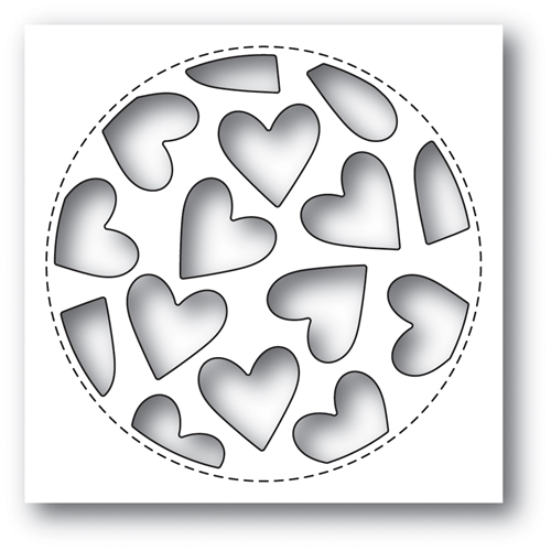 Poppy Stamps TUMBLED HEART COLLAGE Craft Die 2023* Preview Image