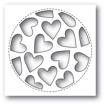 Poppy Stamps TUMBLED HEART COLLAGE Craft Die 2023*