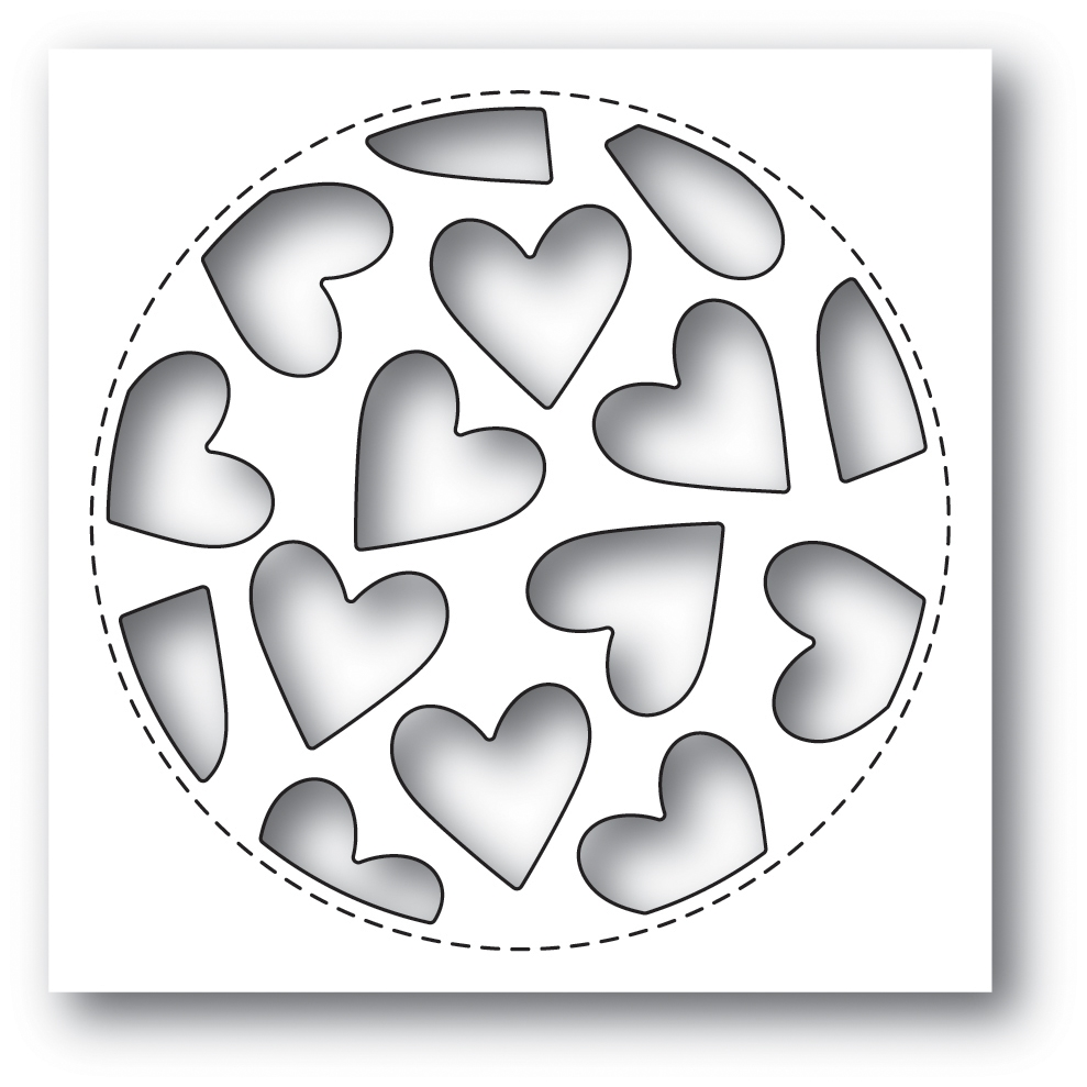 Poppy Stamps TUMBLED HEART COLLAGE Craft Die 2023* zoom image