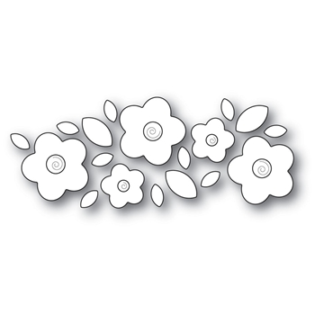 Poppy Stamps FLORAL CLUSTER Craft Die 2031