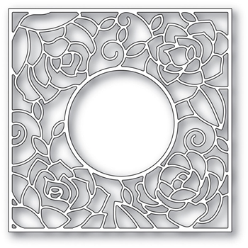 Poppy Stamps ROSE FRAME Craft Die 2033*