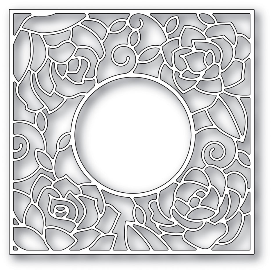 Poppy Stamps ROSE FRAME Craft Die 2033* zoom image