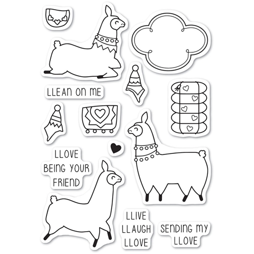Memory Box Clear Stamps LLAMA LOVE Open Studio CL5219 Preview Image