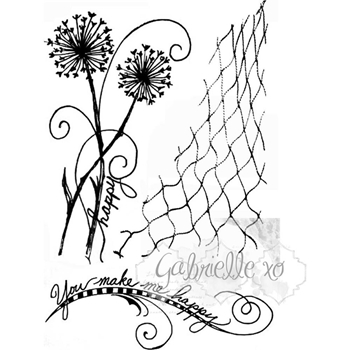 49 and Market GABI'S DANDELION Clear Stamp Set GP-4703*