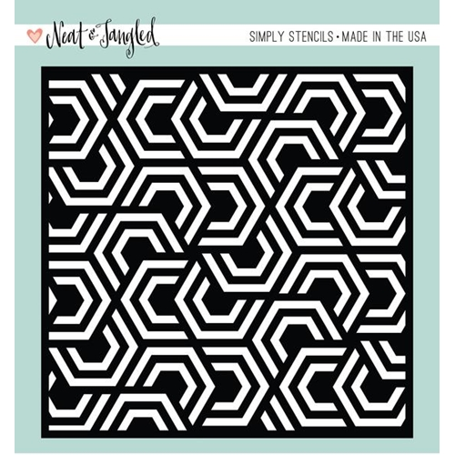 Neat and Tangled NESTING HEXAGONS Stencil NAT344* Preview Image