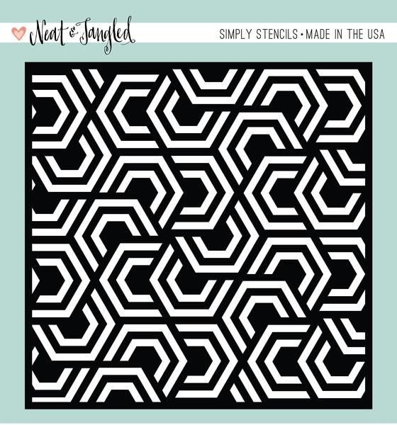 Neat and Tangled NESTING HEXAGONS Stencil NAT344* zoom image