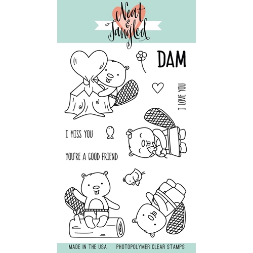 Neat and Tangled BEAVERS EH Clear Stamp Set NAT341* Preview Image