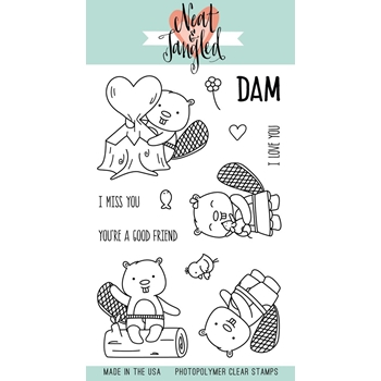 Neat and Tangled BEAVERS EH Clear Stamp Set NAT341