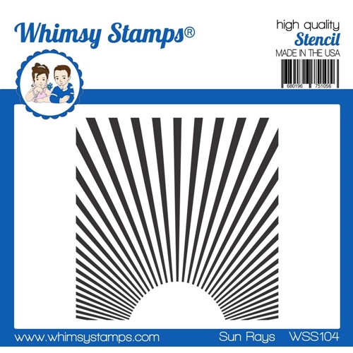 Whimsy Stamps SUN RAYS Stencil wss104 Preview Image