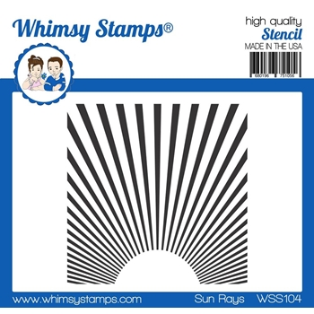 Whimsy Stamps SUN RAYS Stencil wss104