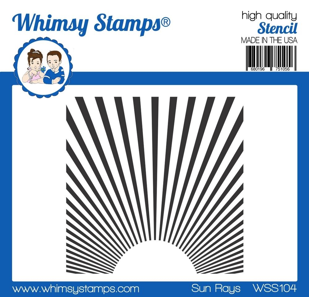Whimsy Stamps SUN RAYS Stencil wss104 zoom image