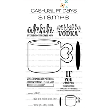 CAS-ual Fridays CUP OF COFFEE Clear Stamps CFS1801