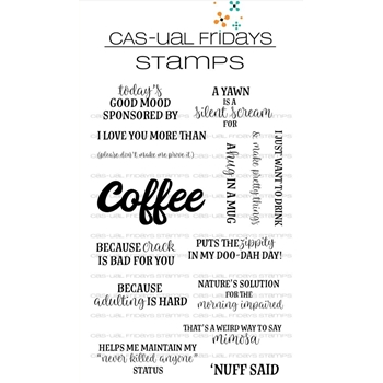 CAS-ual Fridays COFFEE TALK Clear Stamps CFS1802