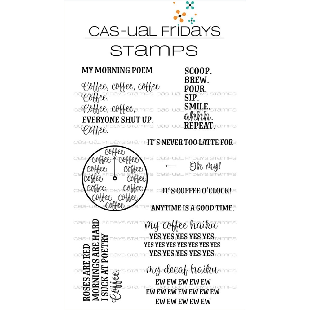 CAS-ual Fridays TIME FOR COFFEE Clear Stamps CFS1803 zoom image