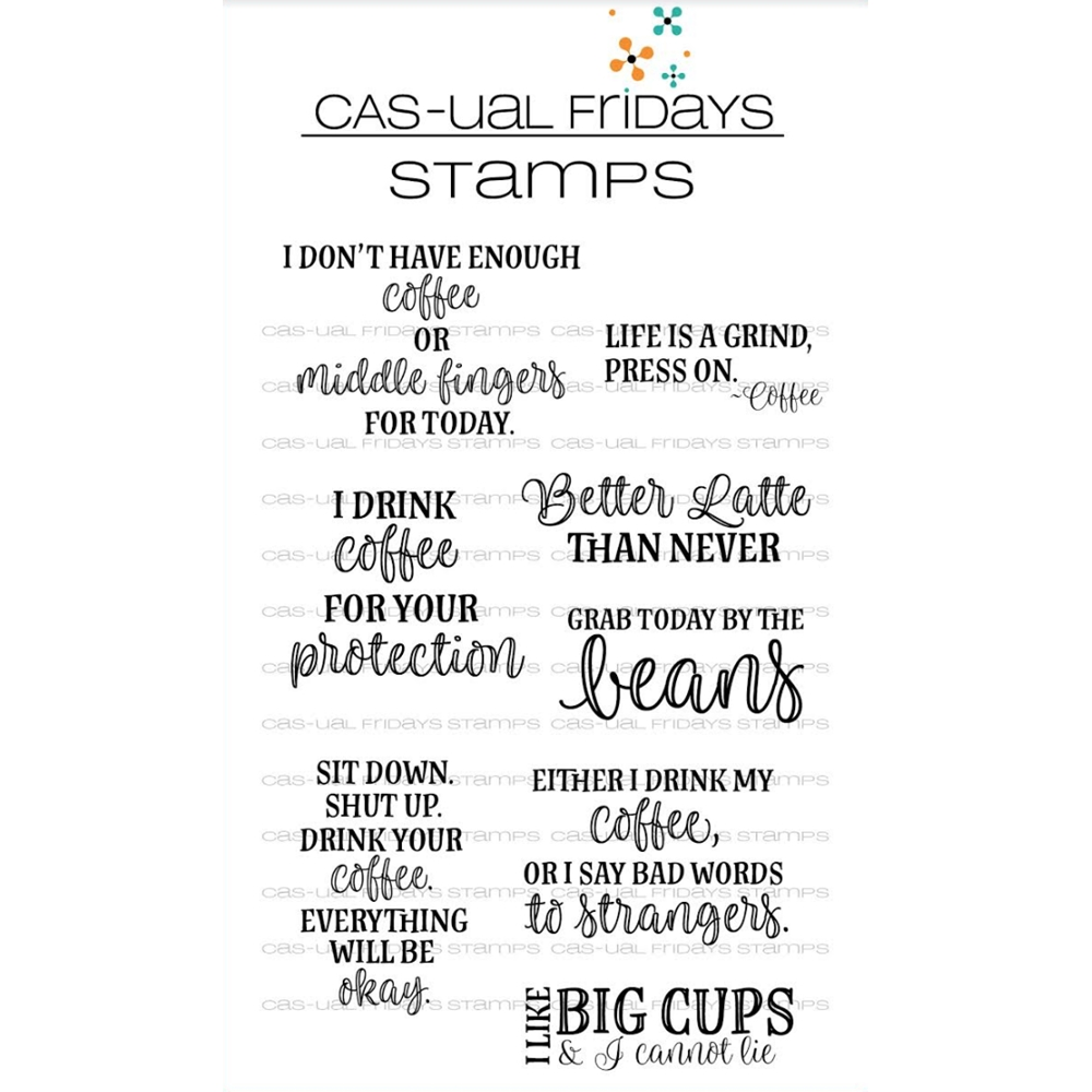 CAS-ual Fridays HOT COFFEE Clear Stamps CFS1804 zoom image