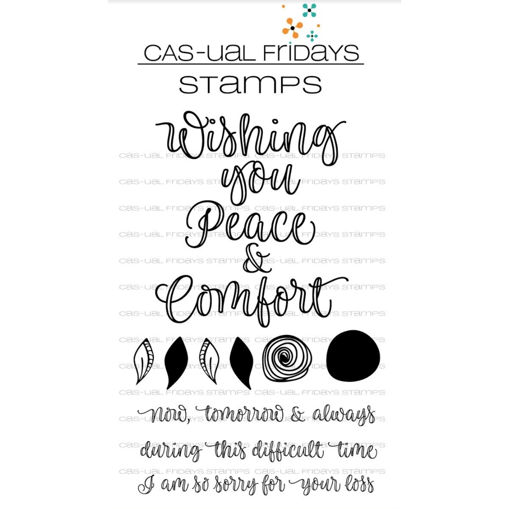 CAS-ual Fridays PEACE AND COMFORT Clear Stamps CFS1806* zoom image