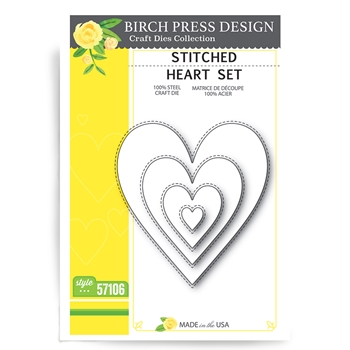 Birch Press Design STITCHED HEART SET Craft Dies 57106
