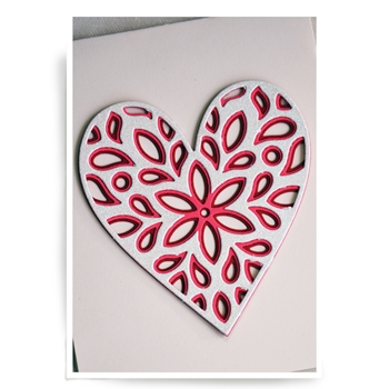 Birch Press Design FIORI HEART LAYER SET Craft Dies 56069