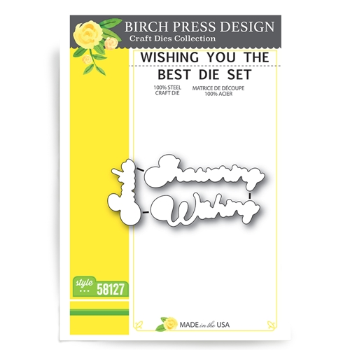 Birch Press Design WISHING YOU THE BEST Craft Die 58127 Preview Image