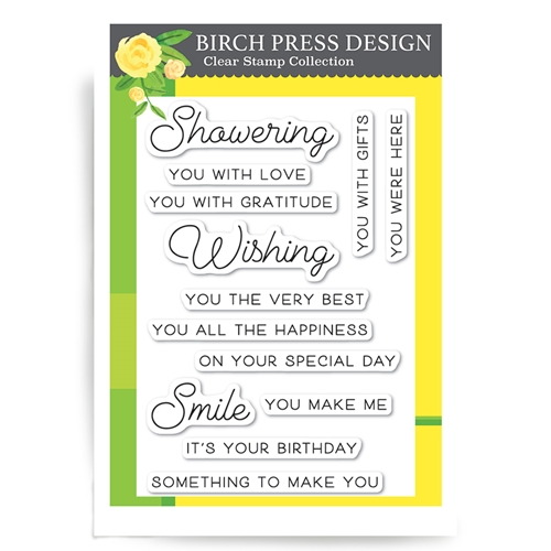 Birch Press Design WISHING YOU THE BEST Clear Stamps cl8127* Preview Image