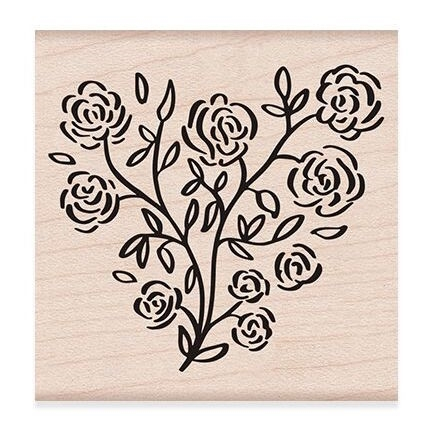Hero Arts Rubber Stamp ROSE HEART F6276* Preview Image