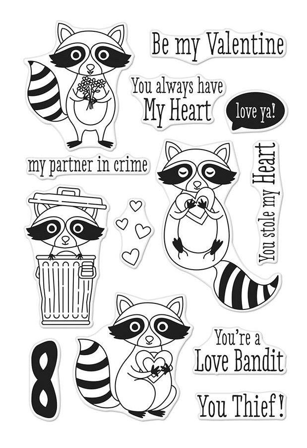 Hero Arts Clear Stamps LOVE BANDIT CM241 zoom image
