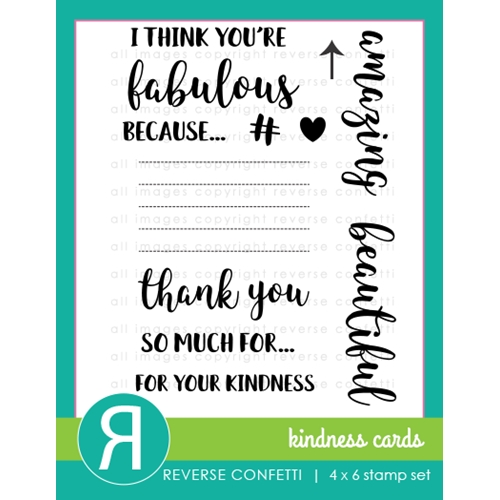 Reverse Confetti KINDNESS CARDS Clear Stamp Set * Preview Image