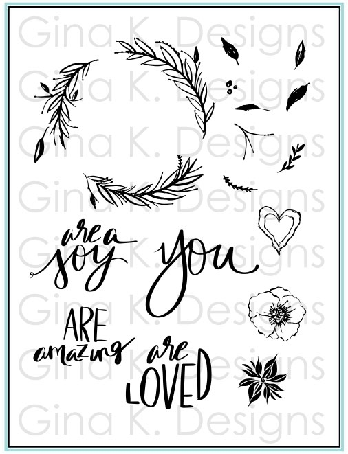Gina K Designs YOU ARE Clear Stamps 5577 zoom image
