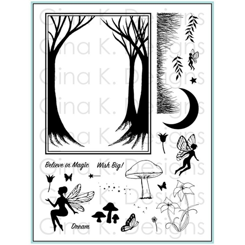 Gina K Designs ENCHANTED FOREST Clear Stamps 5546 Preview Image