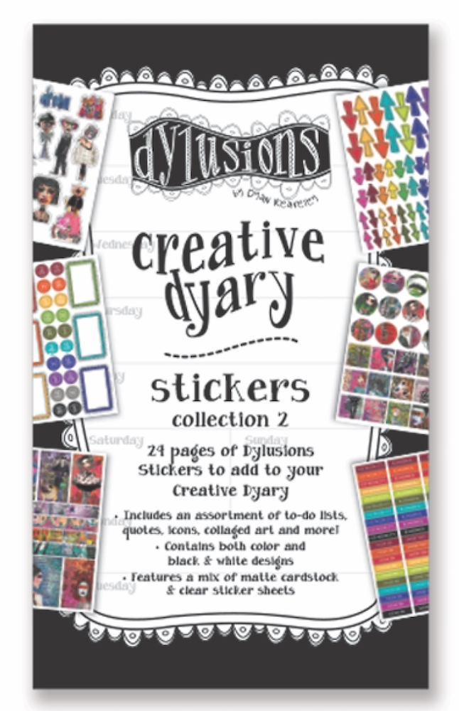 Ranger Dylusions CREATIVE DYARY STICKERS BOOK 2 Dyan Reaveley dye60123 zoom image
