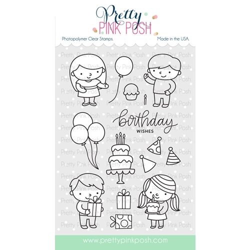 Pretty Pink Posh BIRTHDAY FRIENDS Clear Stamp Set Preview Image