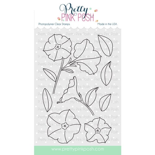 Pretty Pink Posh PRETTY PETUNIAS Clear Stamp Set Preview Image