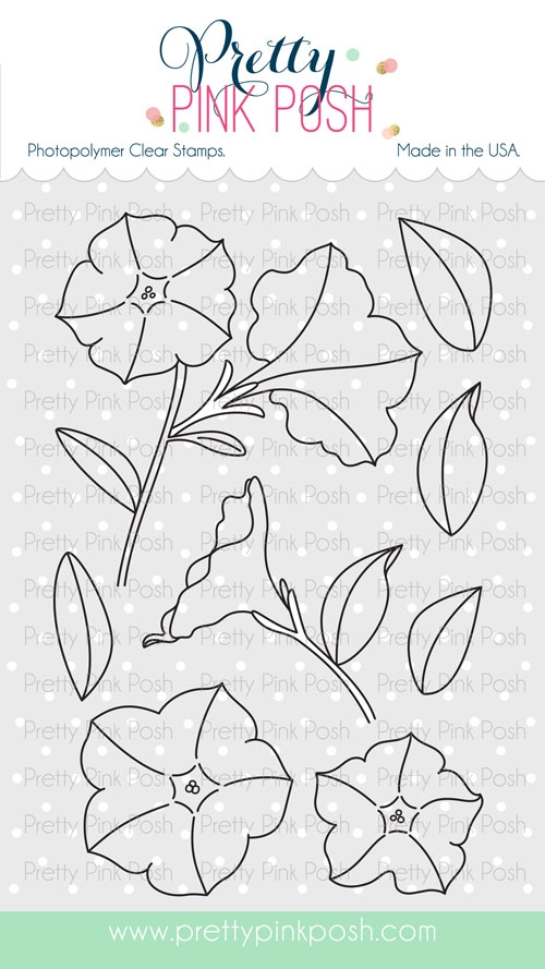Pretty Pink Posh PRETTY PETUNIAS Clear Stamp Set zoom image