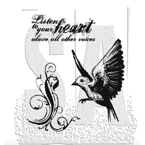 Tim Holtz Cling Rubber Stamps TAKE FLIGHT CMS017 Preview Image