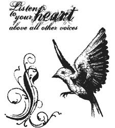 Tim Holtz Cling Rubber Stamps TAKE FLIGHT CMS017 zoom image