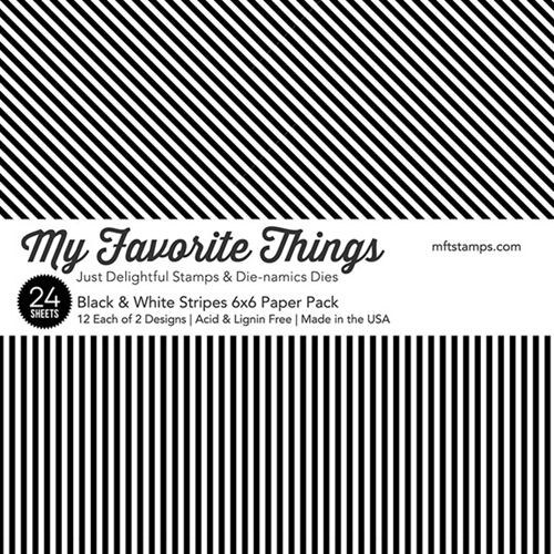 MFT Black and White Stripes Paper Pack