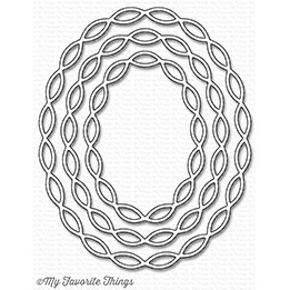 My Favorite Things LINKED CHAIN OVAL FRAMES Die-Namics MFT1251 Preview Image