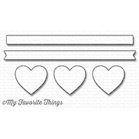 My Favorite Things HORIZONTAL HEARTS IN A ROW Die-Namics MFT1247 Preview Image